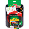 Crayola Dual - Sided Dry - Erase Board Set- CRAYOLA-Dry-Erase Dual Sided Board Set. This dual-sided dry erase board offers twice the fun and creativity! Odor-free crayons wipe from dry-erase surface using the E-Z Erase Mitt and wash clean from hands and clothes. This package include one 11x8-1/2 inch dual- sided dry erase board, eight washable dry-erase crayons, one E-Z Erase Mitt and sharpener. Conforms to ASTM D4236. WARNING: CHOKING HAZARD: Small parts. Not for children under 3 years. Imported.
