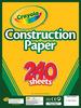 "240 Sheets/Pkg - Crayola Construction Paper Pad 9""X12"""