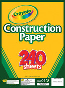 "240 Sheets/Pkg - Crayola Construction Paper Pad 9""X12"""