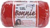 Red - Bonnie Macrame Craft Cord 6mm X 100yd