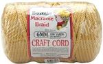 Gold - Bonnie Macrame Craft Cord 6mm X 100yd