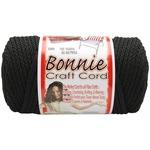 Black - Bonnie Macrame Craft Cord 6mm X 100yd