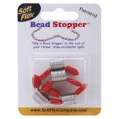 Plastic Topped Metal - Bead Stopper 4/Pkg