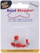Plastic Topped Metal - Mini Bead Stopper 4/Pkg