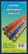 Narrow Wristbands 8/Pkg - Leathercraft Kit