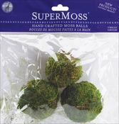 """Green - Moss Balls 2.5"""" 3/Pkg"""