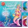 Magical Mermaids Book Kit Klutz-Magical Mermaids Book Kit. Let imagination take you to enchanted undersea worlds. The Marvelous Book of Magical Mermaids comes with six paper mermaids and three elegant paper sea horse friends. You get everything you need to dress them up and play: more than 200 punch-out fashions and accessories, eight sparkly tailfins and four fabulously illustrated playscapes. Plus, reusable sticky dots make it easy to swap outfits, even tailfins, for hours of play. Author: Eva Steele-Saccio. Spiral-bound: 50 pages. Published Year: 2014. ISBN 978-0-545-69214-4. Imported.