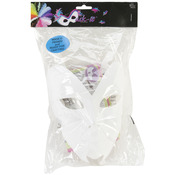 "White - Designer Mask-It Form On Plastic Dowel 8"" 1/Pkg"