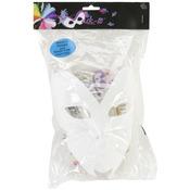 """White - Designer Mask-It Form On Plastic Dowel 8"""" 1/Pkg"""