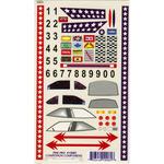 "Super Stock W/Bonus Number Set - Pine Car Derby Decal 5""X8"""