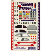 "Super Stock W/Bonus Number Set - Pine Car Derby Decal 5""X8"""