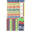 """Numbers & Stripes - Pine Car Derby Decal 5""""X8"""""""