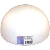 "White - Smooth Foam Half Balls 8"" 1/Pkg"