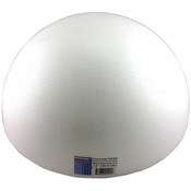"White - Smooth Foam Half Balls 12"" 1/Pkg"