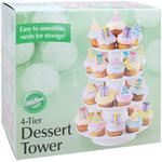"16.25""X12"" Holds 36 Cupcakes - 4 Tier Dessert Tower"