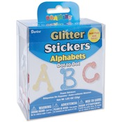 Dot Alphabet - Foam Glitter Stickers 1.05oz