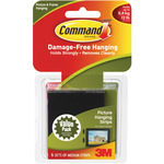 Black 6 Sets/Pkg - Command Medium Picture Hanging Strips