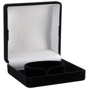 """Necklace Box 4""""X3""""X1.25"""" 1/Pkg - Black"""