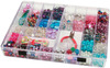 Plastic Storage Box 11.75 X8.75 X1.5  35 Compartment- DARICE-Jewelry Designer: Plastic Storage Box. Organize and store all kinds of little beads and baubles in this clear plastic storage box. The hinged lid has a snap-shut latch to keep everything securely inside. Put small items in any of the thirty-three 1-5/8x1-1/4 inch spaces and store larger items in either of the two bigger spaces (one is 3-3/8x2-7/8 inches and one is 1-5/8x4-1/4 inches). Outer dimensions of the box are 8-3/4x11-3/4x1-1/2 inches. This package contains plastic storage box with thirty-five cavities. Imported.