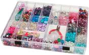 "Plastic Storage Box 11.75""X8.75""X1.5"" 35 Compartment-"