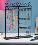 "Black - Metal Jewelry Display Shelf 12""X3.5""X14"""