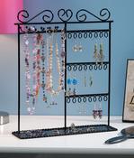 "Black - Metal Jewelry Display Shelf 12""X3.5""X14"""