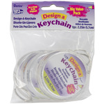 "Clear - Design-A-Keychain 2.75"" 6/Pkg"