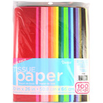 "Assorted Solid Colors - Tissue Paper Value Pack 20""X26"" 100/Pkg"