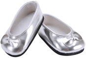 Silver - Springfield Collection Ballet Slippers