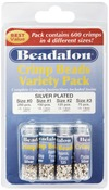 Silver Plated - Crimp Bead Variety Pack Sizes #0, #1, #2, #3 600/Pkg