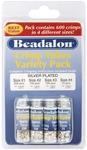 Silver Plated - Crimp Tube Variety Pack Sizes #1, #2, #3, #4 600/Pkg