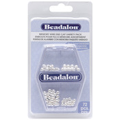 Silver - Memory Wire Endcap Variety Pack 72/Pkg
