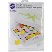24 Cavity White 1/Pkg - Cupcake Box Folding Tray