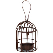 Metal Birdcage W/Tealight Holder - Timeless Miniatures