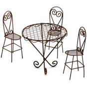 Wire Garden Table & Chairs Set - Timeless Miniatures