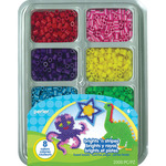 Brights 'n Stripes - Perler Fused Bead Tray 2000/Pkg