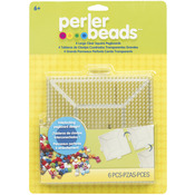 Large Square Clear - Perler Fun Fusion Pegboards 4/Pkg