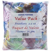 Assorted - Value Pack Feathers 2.5 Ounces