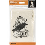 Vintage - Jolee's Halloween Canvas Treat Bags 4/Pkg