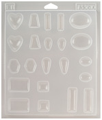 "11 Assorted Shapes - Castin' Craft Jewelry Plastic Mold 7-1/4""X8-1/4""X1/2"""
