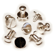 Silver - Button Stud and Post 4/Pkg