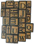 Alphabet - Vintage Collection Wood Letterpress Blocks 26/Pkg
