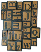 Alphabet - Vintage Collection Wood Letterpress Blocks 26/Pkg