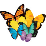 "Butterflies - Jigsaw Shaped Puzzle 500 Pieces 17""X23"""