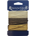 Gold, Silver and Bronze - Round Leather Lace 2mm Carded 9yd