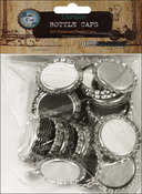 "Chrome - Vintage Collection Flattened Bottle Caps 1"" 50/Pkg"