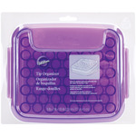 """White & Purple - Tip Organizer 9""""X7""""X2"""""""