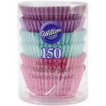 Pink, Turquoise & Purple 150/Pkg - Standard Baking Cups