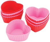 Heart 12/Pkg - Silicone Standard Baking Cups