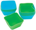 Square 12/Pkg - Silicone Standard Baking Cups